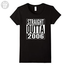 Womens Funny Straight Outta 2006 11th Years Old Birthday Gift Shirt Medium Black - Birthday shirts (*Amazon Partner-Link)