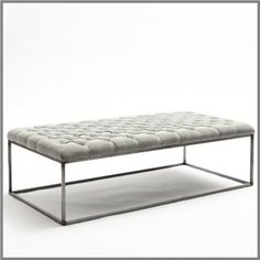 F156 - GELATO RECTANGULAR OTTOMAN TABLE - HAZELNUT