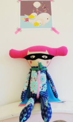 Superhero Dolls | Girl Superhero Cloth Doll Fabric Doll Cloth by TashiBear, #superhero ...