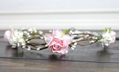 Wedding Flower Crown Blush Pink Flower Crown by myfashioncreations