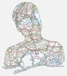 Blessed with both an impressive imagination and artistic skill, Nikki Rosato creates incredible people portraits.all made from maps! Contemporary Portrait Artists, Contemporary Art, Stitch Drawing, Art Alevel, Art Carte, Map Painting, Collage, A Level Art, Portraits