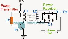 In this post we learn how wireless power transfer works in detail through an working circuit example for implementing an effective transfer of electricity through air. Electronics Mini Projects, Electronics Basics, Electronic Circuit Projects, Electronics Components, Electronic Engineering, Electrical Engineering, Electrical Energy, Electronics Accessories, Engineering Projects