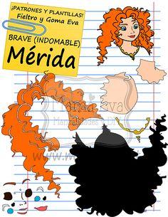 Descarga gratis nuestras plantillas para goma eva y fieltro de tus personajes favoritos: Mérida, los mellizos, la reina Elinor, los ositos...