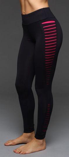 Women Yoga Legging Running Gym Workout Wicking Fabric Cutout Side Panel Jogging  #Kiteng