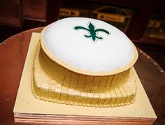 Thanks to Renee Leger for sending this picture of her Saints cake! #Saints #NOLA  #Cake