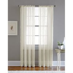 Found it at Wayfair - Pintuck Solid Sheer Single Curtain Panel
