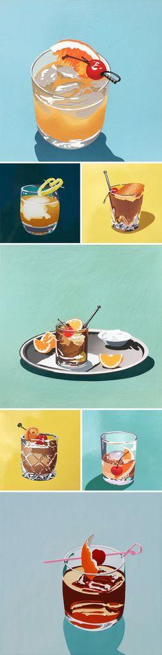 """bourbon"" paintings by lori larusso"
