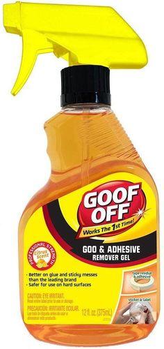 Goof Off Fg790 Goo Adhesive Remover Gel 12 Oz