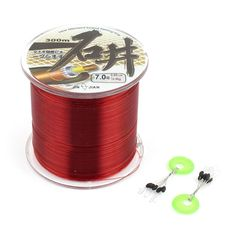 7 Burgundy Nylon 0.45mm Dia 16.4Kg Thread Fishing Line Spool 300M ** Click image to review more details.