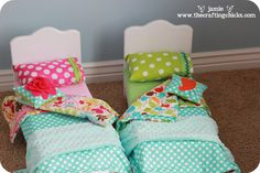 adorable doll bed and bedding to make for the girls