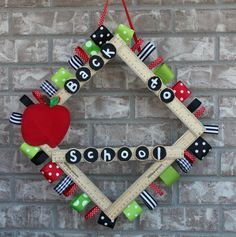 This Back to School ruler wreath is a perfect way to kick off decorating for the upcoming hustle and bustle. We love back to school season and all of the excitement around new schedules, teachers …