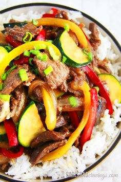 Saucy Asian Beef Stir Fry by carsbadcravings: 30 minutes #Beef #Stir_Fry #Healthy