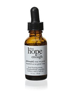 Philosophy When Hope is not Enough Facial Firming Serum 1 Ounce -- Check this awesome product by going to the link at the image.(This is an Amazon affiliate link)