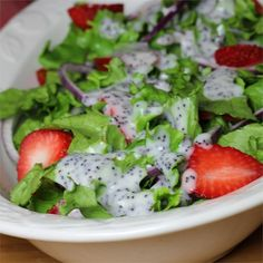"""Strawberry Romaine Salad II """"Big hit. The wife loved it. Will be making it again."""""""