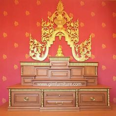 Pooja Room Design, Temple Design, Puja Room, Furnitures, Altar, Home Furniture, Buddha, Projects To Try, Room Decor