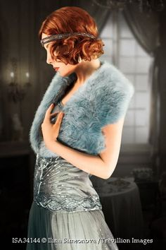 Trevillion Images - 1930s-woman-in-blue-fur
