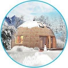 Уникальный купольный дом площадью 81.7 м² под ключ от 2 490 000 руб. Нашу смету не нужно умножать на два. Строим в России и не только. Реально строим!