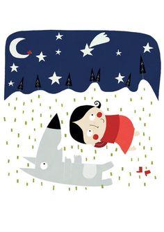 Affiche, Sous les étoiles A030 di La Parenthèse enchantée su DaWanda.com