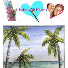 """Let's Paint a simple tropical seascape! Join us on Thursday July 14th @ 7:30 pm Eastern / 4:30 pm Pacific in the Zoom Room (click here to join -- but wait until Thursday! -- http://ift.tt/29H4K9K). This week we'll be painting a 10"""" x 10"""" canvas or any size you have. We are going to explore how to create clear blue skies warm waters a sandy beach and palm trees. Grab a pina colada or favorite tropical beverage relax & have fun!  Supplies needed for this project are: 10"""" x 10"""" canvas paint…"""
