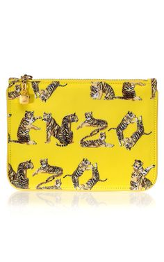 "Kenzo's ""Jungle Tiger Letters"" Pouch"