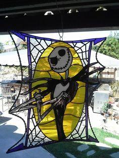 Custom Made Stained Glass - Jack Skellington