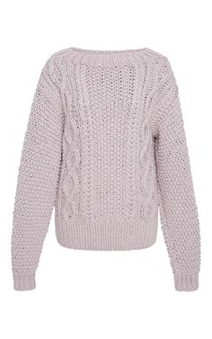 Cable-Knit Cotton Sweater by I LOVE MR. MITTENS Now Available on Moda Operandi