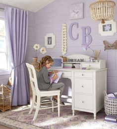 The most adorable homework station for kids.