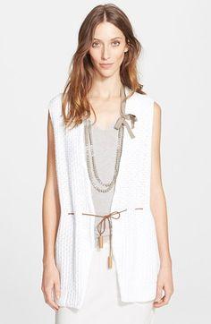 Women's Fabiana Filippi Sailor Knot Cotton Knit Vest