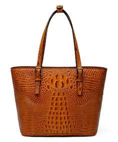Loving this Diana Croc Leather Tote Handbag on #zulily! #zulilyfinds