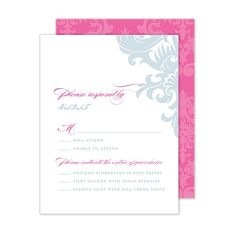 This item features a matching damask pattern on the back of the card in a corresponding color. Please refer to the main product image to see an example of the pattern. When customizing please note that up to three ink colors may be used for your personalization. This card includes white envelopes. Price $112.00       website says 88.00 for 50