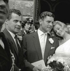 Anita Ekberg, her wedding in Florence, May 1956.