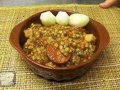 Guiso de lentejas Lentil Recipes, Chorizo, Lentils, Chili, Beans, Vegetables, Cooking, Food, Gourmet