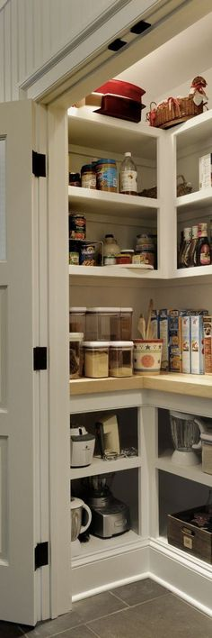 An Easy Way to Add More Counter Space to Your Kitchen. Looking for remodel or renovation ideas? Upgrade your pantry, no matter what size it is, with a countertop at waist level instead of a shelf.