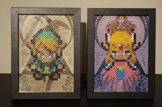Encadré de Legend of Zelda 8bits Hama perles