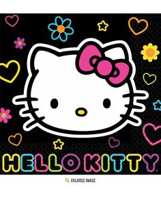 0cc88f117 Hello Kitty Tween Lunch Napkin Pink Hello Kitty, Cat Party, 16th Birthday,  Sanrio