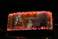 christmas decorated motorhome we hope they dont try to drive