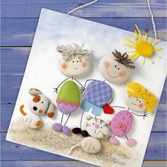 Rock Painting Craft Ideas With Pebbles And Stones Craftionary - Collect Rocks Pebbles And Stones On Your Next Trip To Park And Beach Make Hand Painted Rocks Rock Painting Painted Pebbles Painted Stones Stone Art Family Crafts, Diy And Crafts, Crafts For Kids, Arts And Crafts, Projects For Kids, Diy For Kids, Craft Projects, Craft Ideas, Kids Fun