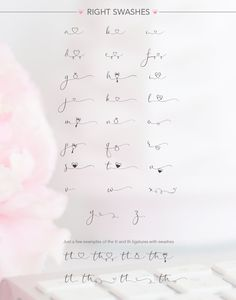 Wedding font - iHeartit by Joanne Marie on Kinderinitialen Tattoos, Dainty Tattoos, Mini Tattoos, Finger Tattoos, Love Tattoos, Small Tattoos, Tatoos, Hand Lettering Fonts, Cursive Fonts