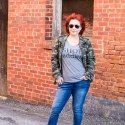 Styling a casual weekend look featuring a camo jacket, graphic tee, Angels Forever Young jeans, and booties. Fashion over A Pocketful of Polka Dots Girl Fashion, Fashion Outfits, Womens Fashion, Clothing Blogs, Fashion For Women Over 40, Camo Jacket, Weekend Wear, Forever Young, Outfit Posts