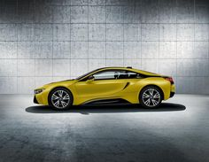 BMW announces a duo of limited edition Protonic Frozen i8s. The new cars come in a matte Protonic Yellow and Black.