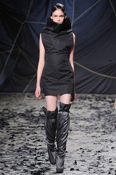 OTT collar on a minidress at Gareth Pugh