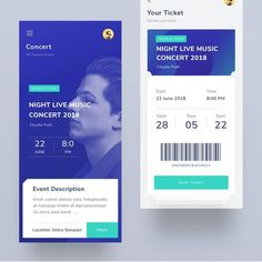 Wireframing and paper prototyping tools at or link in bio. from - Event ticketing app 🎫🎫 . Ios App Design, Ui Design Mobile, Application Mobile, Application Design, Ticket Concert, Event App, Card Ui, Ticket Design, App Design Inspiration