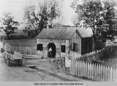 Blacksmith shop in Labadieville Louisiana in the 1890s