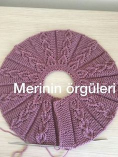 Diy Crafts - Learn how to knit this sweet baby vest collar. You can watch videos at down side for learn pattern. She is telling turkish language but v Baby Knitting Patterns, Knitting Stitches, Knitting Designs, Free Knitting, Crochet Patterns, Baby Poncho, Baby Vest, Crochet Diy, Crochet Hats