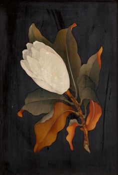 songesoleil:  An Italian Pietra Dura Flower Plaque.c.1900. 22.9 x 15.9 cm.