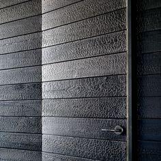 Japanese charred wood siding Shou Sugi Ban Cypress