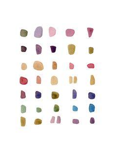 loooooove this watercolor print by louise van terheijden ... candy? seaglass? pebbles? doesn't matter! <3
