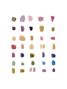 loooooove this watercolor print by louise van terheijden ... candy? seaglass? pebbles? doesn't matter! <3