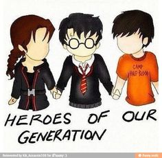 Katniss Everdeen (Hunger Games), Harry Potter (Harry Potter), and Percy Jackson (Percy Jackson and the Heroes of Olympus)