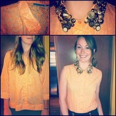 Vintage button collar. By Danielle Rolla